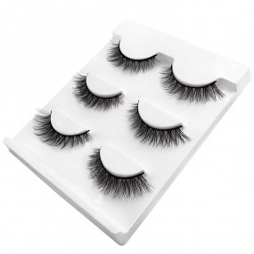 Natural false eyelashes (3 pairs)