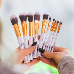 Make up brushes marble