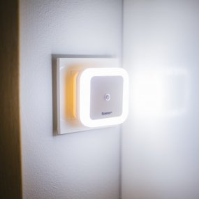 Night light with light sensor