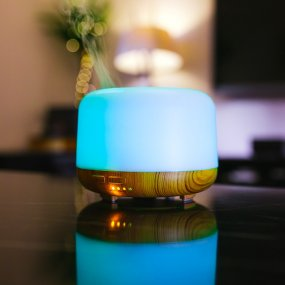 Humidifier with LED lighting