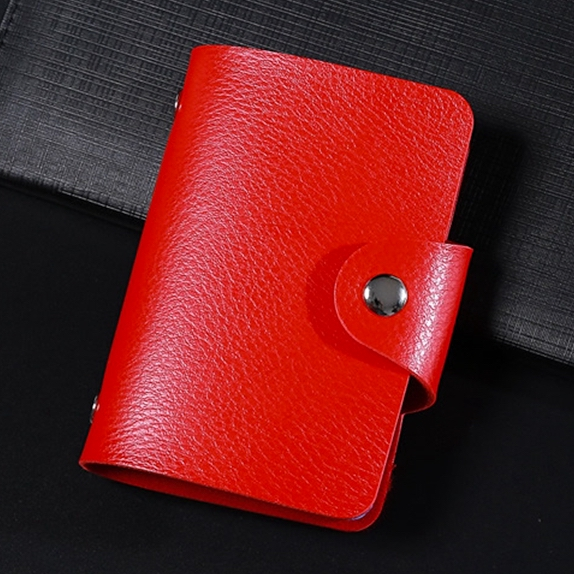 Cardholder for 24 cards in leather