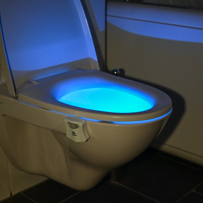 LED lighting for the toilet
